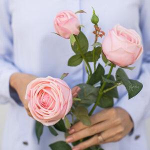 Kunstblume Peony Rose - Frabe hrllrosahellrosa