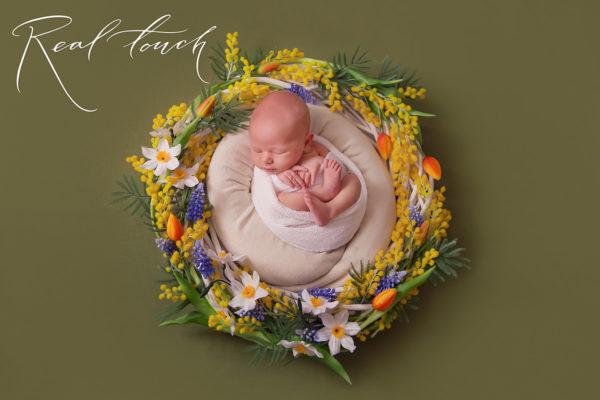 Blumenkranz_Fotoshooting_Neugeborene