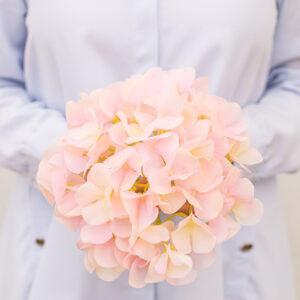 kuenstliche Hortensie in pastell rosa